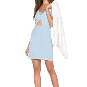 NBD x Navin Twins light blue cutout dress